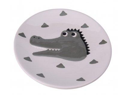 Dětský talíř Animals (tygr, panda, zebra, žirafa, krokodýl)