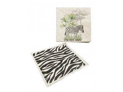 Papírové ubrousky Safari 33x33cm, dvě varianty