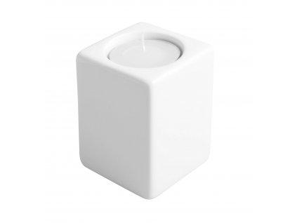 Svícen Quadro (5,5x8cm), bílá