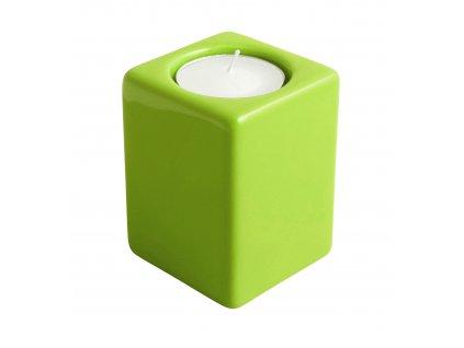 Svícen Quadro (5,5x8cm), zelená