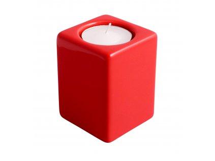 Svícen Quadro (5,5x8cm), červená