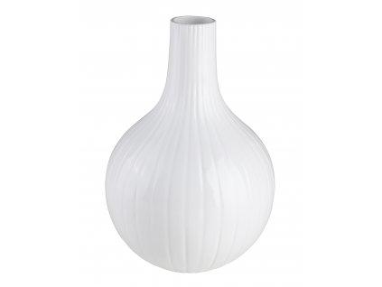 Váza Cibule malá (19x19x28cm), bílá