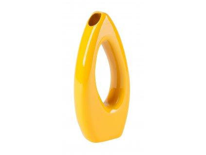Váza 'Eye' (13x5x28cm), žlutá