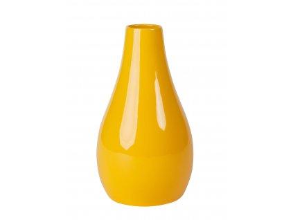 Váza 'Drop'(15x15x26cm), žlutá