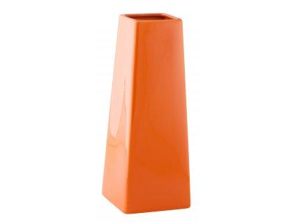 Váza 'Quadro cone' (10x27cm), oranžová