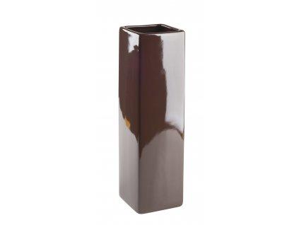 Váza 'Quadro ' (8x29cm), hnědá
