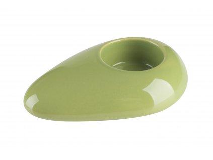 Svícen 'Stone' (12x8x3cm), zelená
