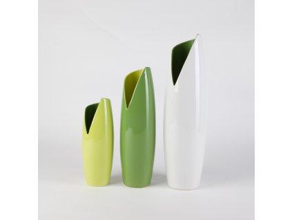 1576 vaza banana 10x10x27 cm svetle zelena