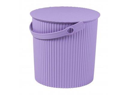 Úložný box/stupínek (26x26,5cm), fialová