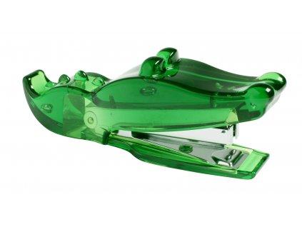 Sešívačka - krokodýl, zelená