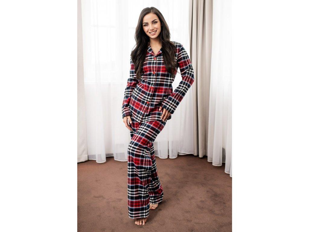 Dámské flanelové pyžamo Sabina HK1341