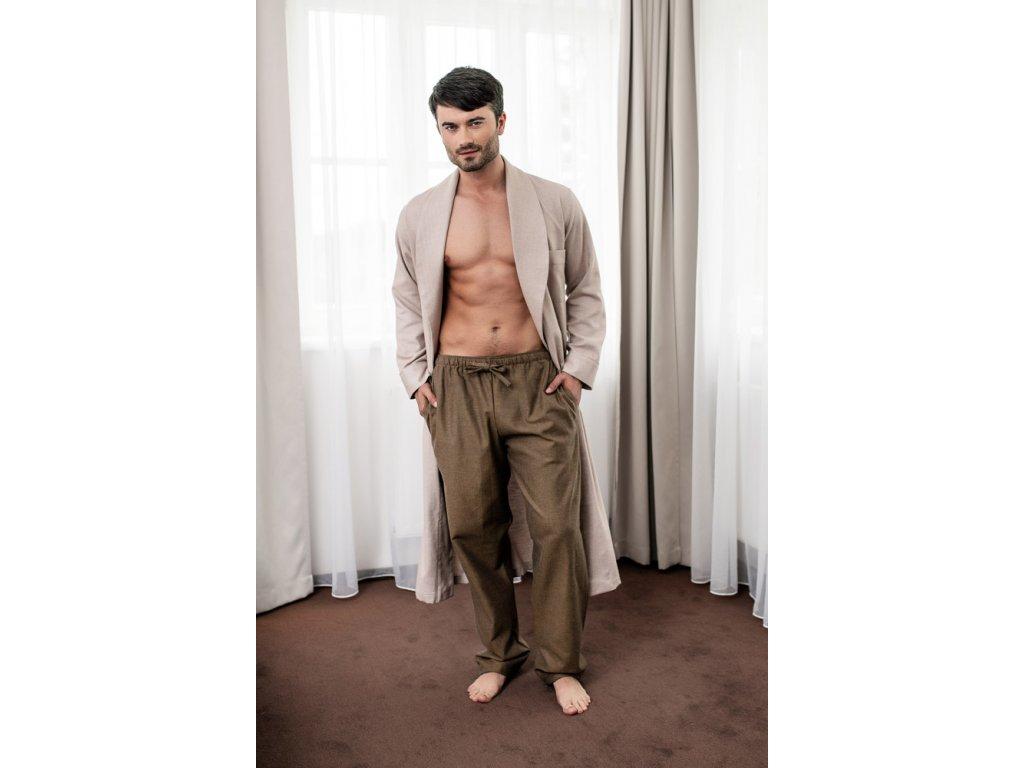 Pánské domácí kalhoty flanel HK64