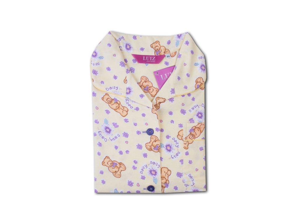 Flanelové pyžamo Kristýna Slim 62