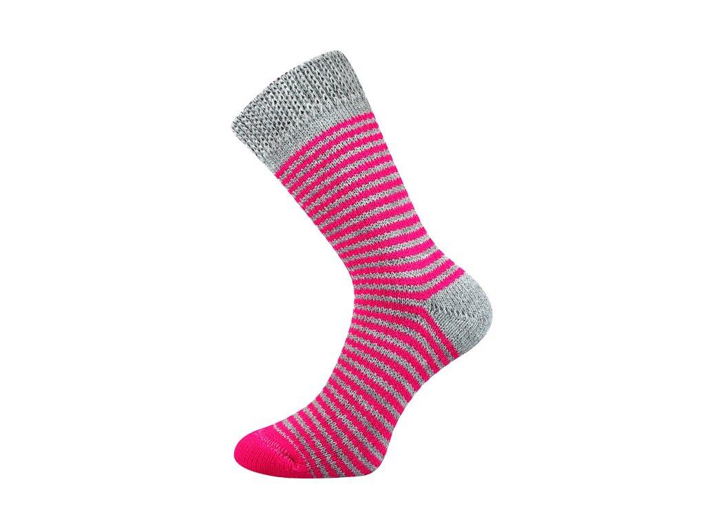 Spací ponožky Řůžová/šedá