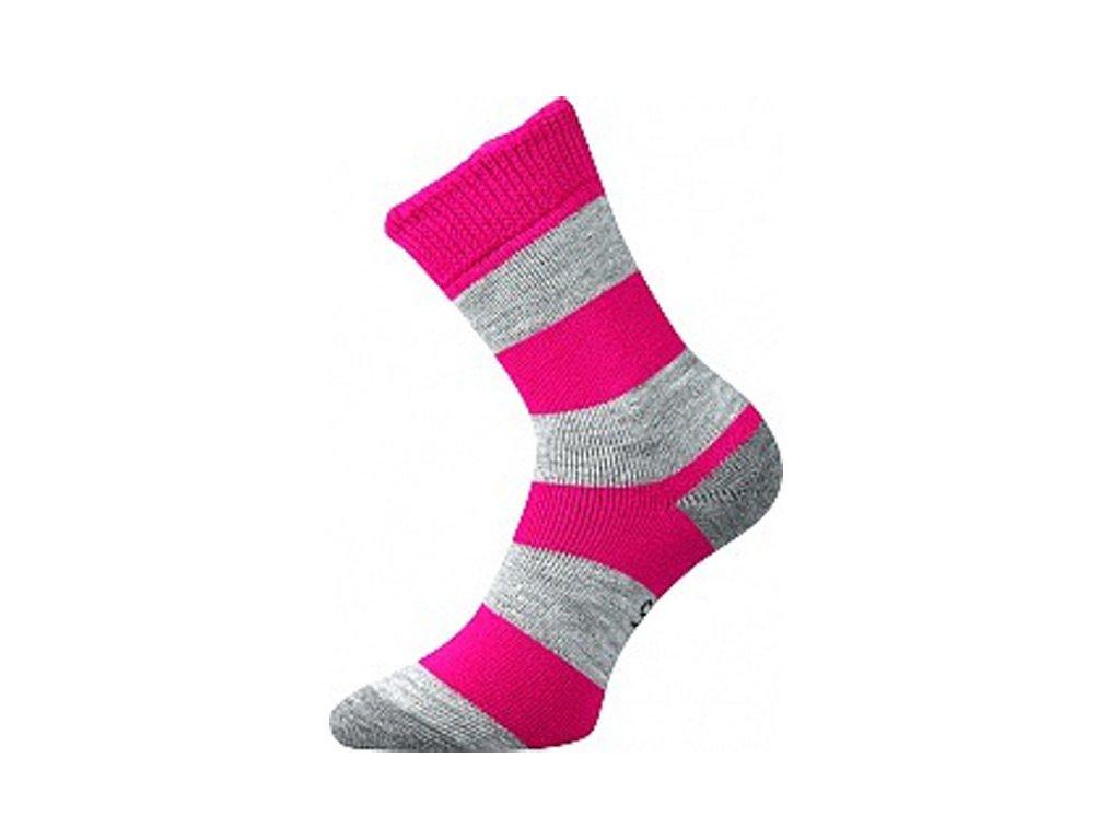 Ponožky Velveta Růžová