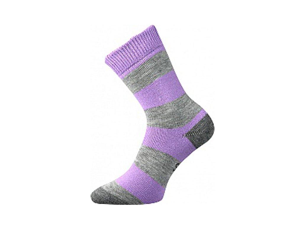 Ponožky Velveta Světle fialová