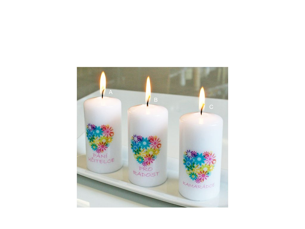 Svíčka S věnováním