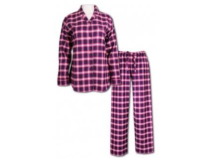 Dámské flanelové pyžamo Sabina HK1402