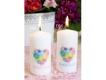 Svíčka S věnováním Babičce