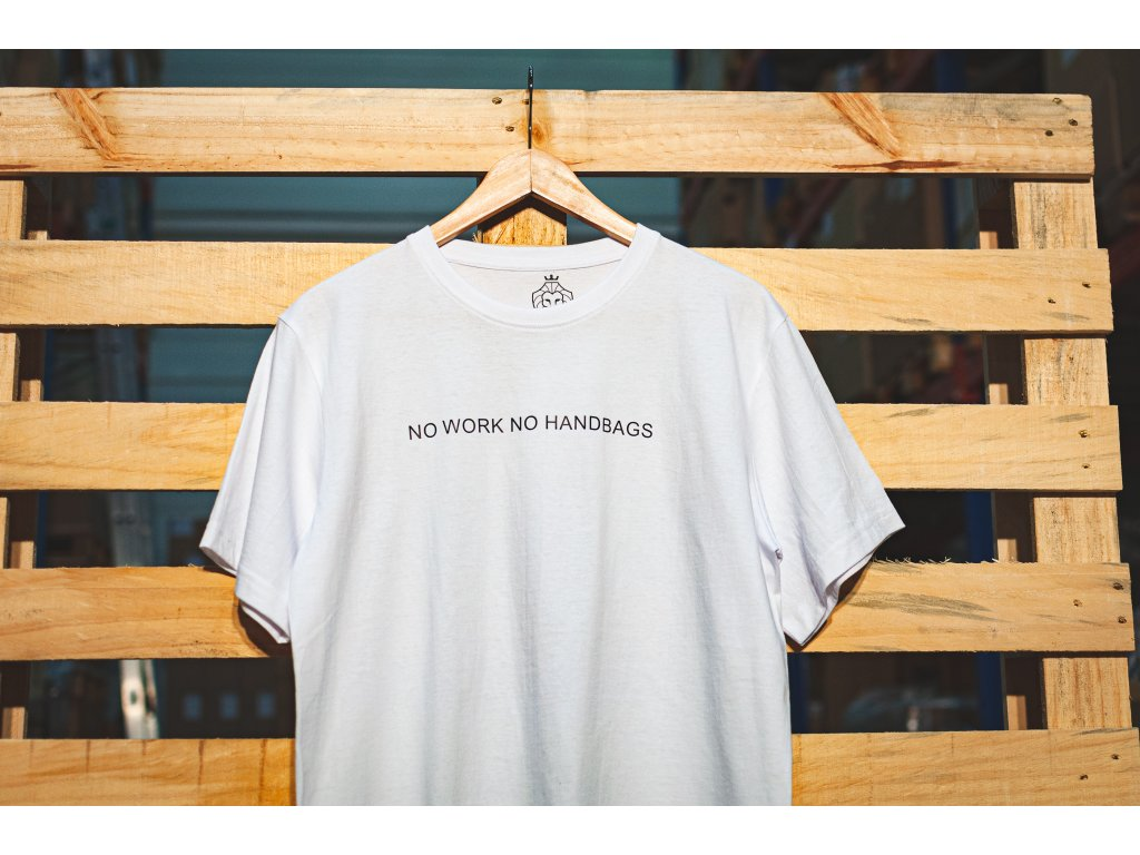 no work no handbags cerny napis na palete vodorovne detail 2