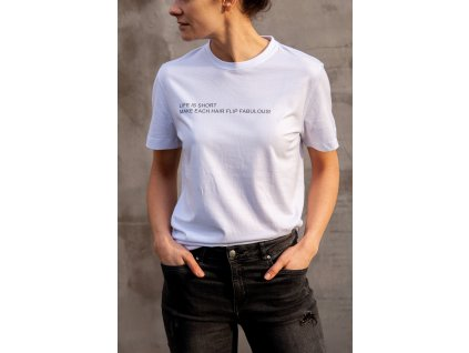 Bílé tričko - Hairflip