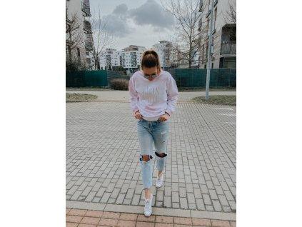 Batikovaná mikina - Pink