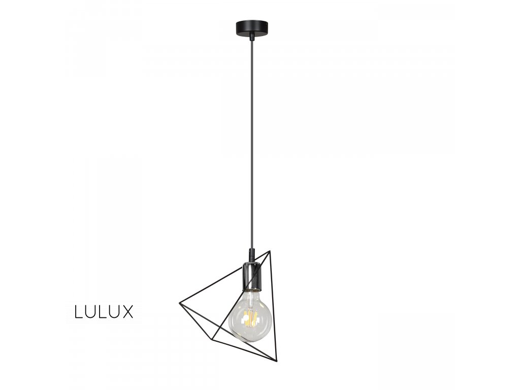 DEX 1 BLACK   dizajnový industriálny štýlový luster