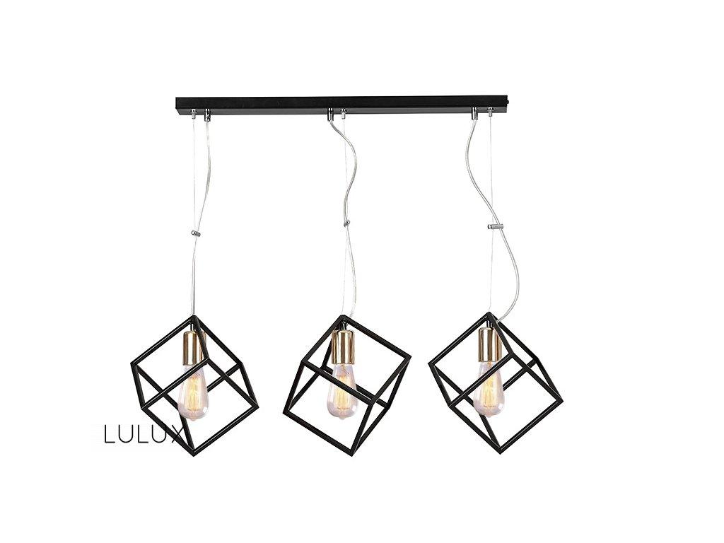 AMBITON 3 | dizajnová čierna visiaca lampa