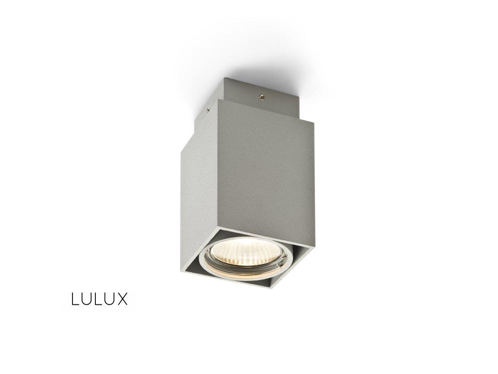 EX GU10 | hranatá stropná striebornosivá bodovka
