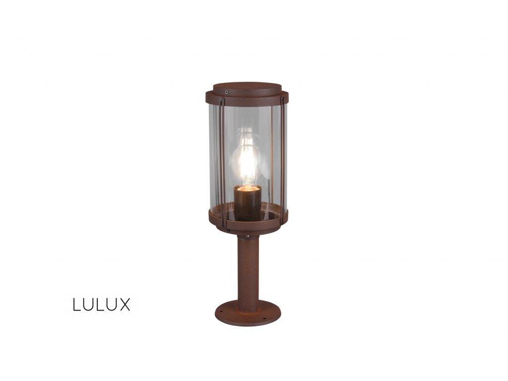 502360142 TANARO nízka | Retro stojaca vonkajšia lampa v tvare lampáša IP44