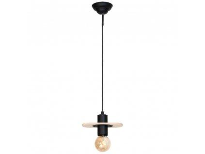 Aldex | 940G | ALBA | čierna visiaca lampa s drevom