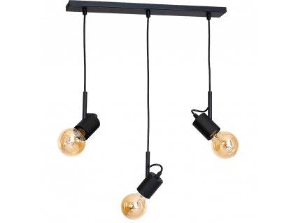 Čierne ALUNA | čierna dizajnová visiaca lampa