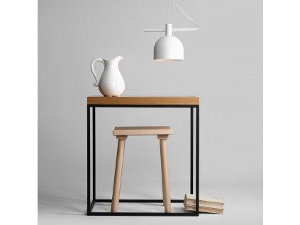 Biele minimalistické dizajnové závesné svietidlo