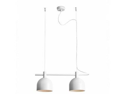 BERYL II biela minimalistická visiaca lampa