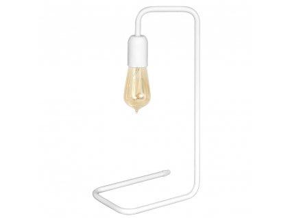 Biele industriálné stolové dizajnové svietidlo
