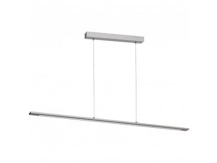 Jednoduché moderné LED minimalistické závesné svietidlo v sivej farbe