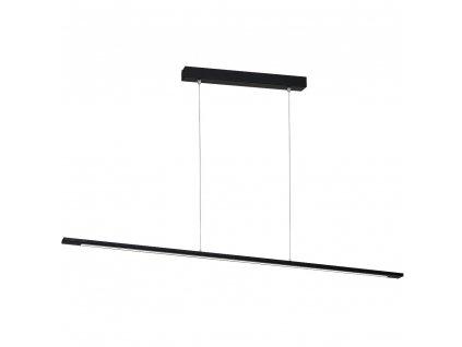 Jednoduché moderné LED minimalistické závesné svietidlo v čiernej farbe