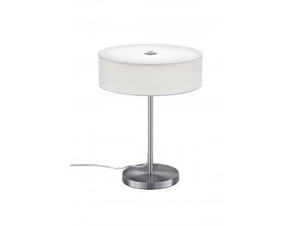 Trio Lugano - moderné okrúhle stolné biele led svietidlo