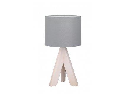 Trio Ging - drevené moderné svietidlo na nočný stolík