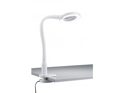 Trio Lupo biele - Pekné led stolné svietidlo s lupou a dotykovým spínačom regulujúcim jas