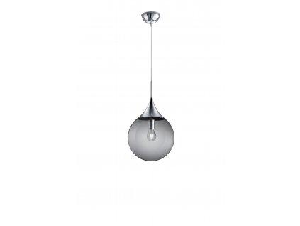 Trio Midas 30 - visiace dizajnové svietidlo z dymového skla a chrómu