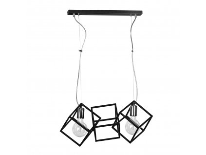 FABIAN 2 BLACK | závesná dizajnová industriálna lampa