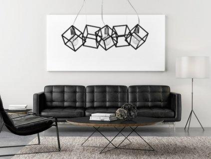 FABIAN 3 WHITE | závesná dizajnová industriálna lampa