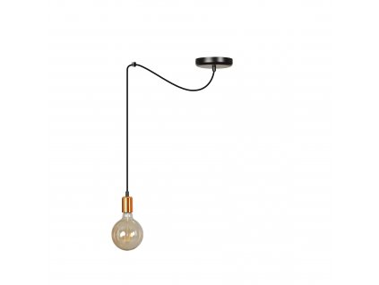 SPARK 1 BLACK | moderná medená závesná žiarovka