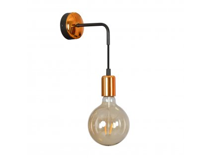 SPARK K1 BLACK | moderná medená nástenná lampa