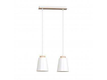 BOLERO 2 WHITE | pekné moderné visiace svietidlo