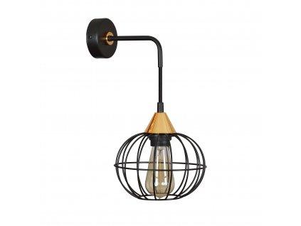 LATARNIA K1 BLACK | industriálna retro nástenná lampa