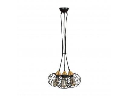 LATARNIA 3 BLACK | industriálna retro visiaca lampa