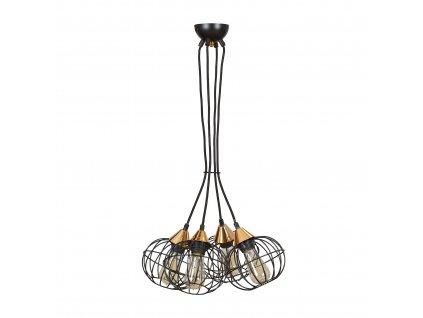 LATARNIA 4 BLACK | industriálna retro visiaca lampa