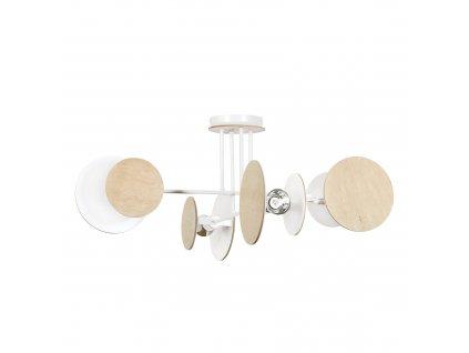 ZITA 4 moderná dizajnová stropná lampa biela